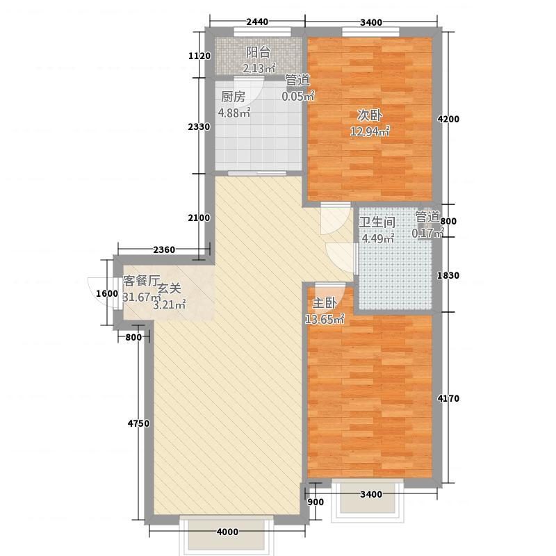 天池街户型2室1厅