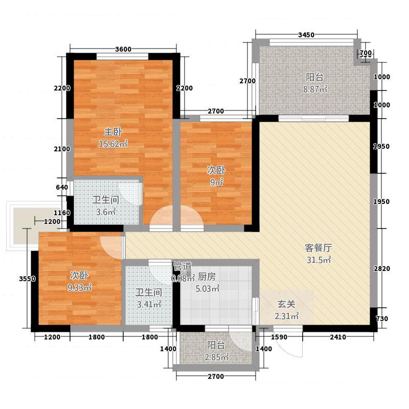 18号楼H1户型100平.png