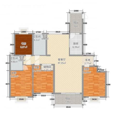 外滩首府4室1厅2卫1厨225.00㎡户型图