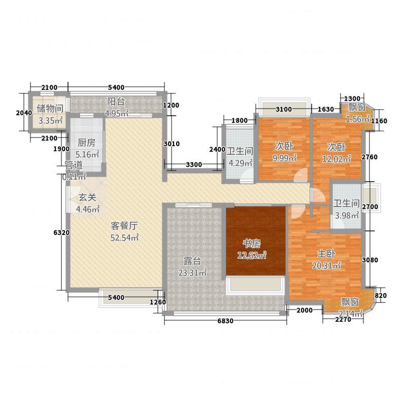 熙龙湾174.00㎡熙龙湾户型图5栋C座03偶4室2厅2卫户型4室2厅2卫