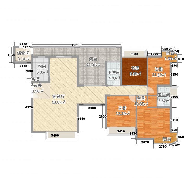 熙龙湾172.00㎡熙龙湾户型图5栋C座03奇4室2厅2卫户型4室2厅2卫