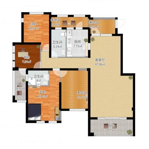 铂悦山3室1厅2卫1厨193.00㎡户型图