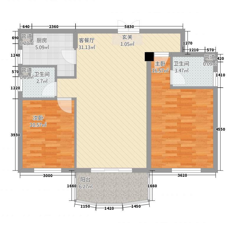 新城国际211.25㎡hejing户型2室2厅2卫1厨