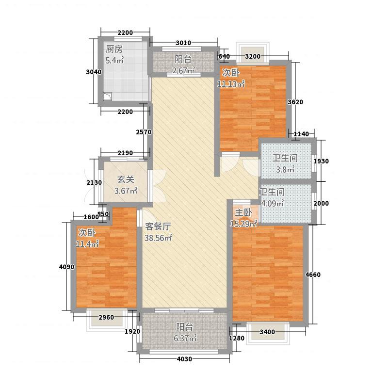 帝泊湾128.00㎡4户型3室2厅2卫1厨