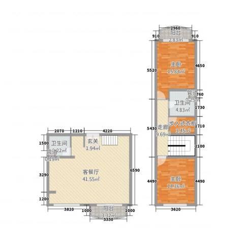 御品天下2室1厅2卫0厨135.00㎡户型图