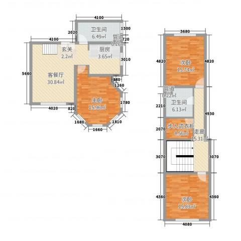御品天下3室1厅2卫0厨145.00㎡户型图