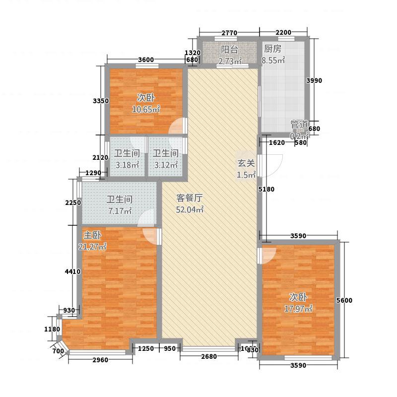 大唐-荣城53158.67㎡A5户型3室2厅2卫1厨