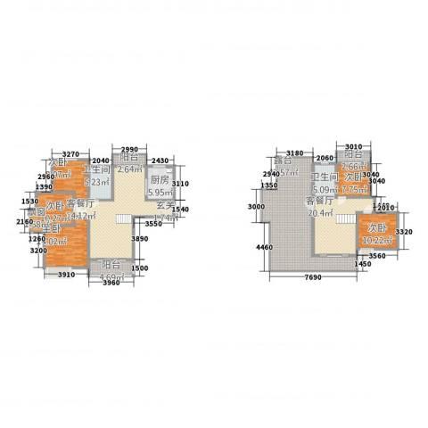 瀚林苑5室2厅2卫1厨174.58㎡户型图