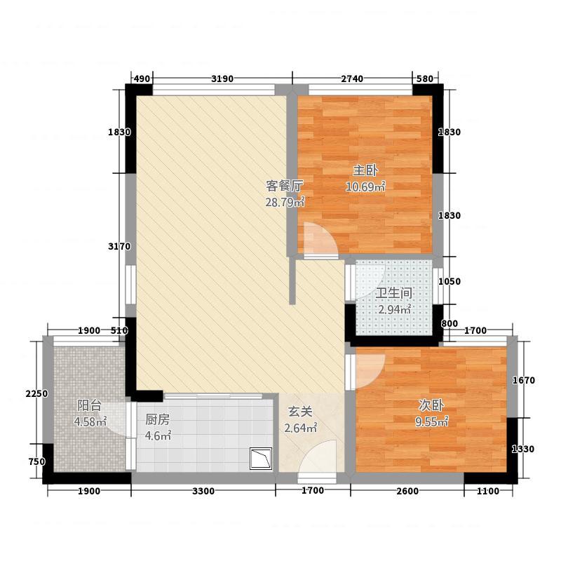 柏瑞・公园一号163.22㎡A1户型2室2厅1卫