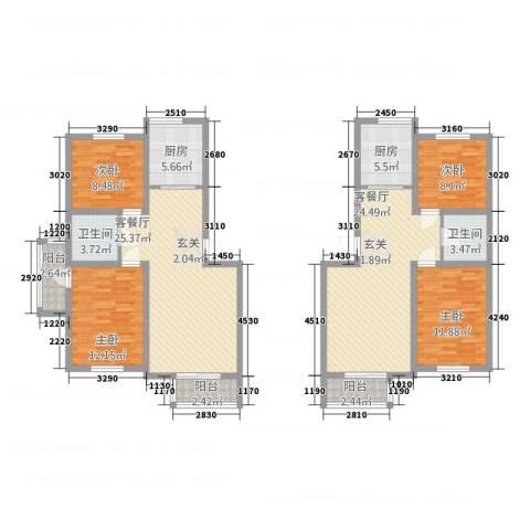榆林华苑4室2厅2卫2厨168.00㎡户型图
