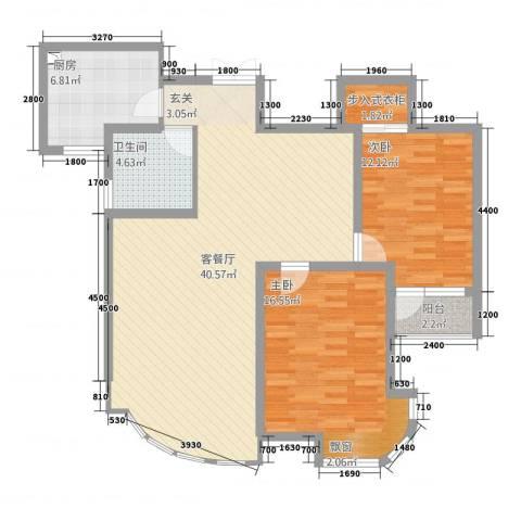 金汇国际2室1厅1卫1厨84.71㎡户型图