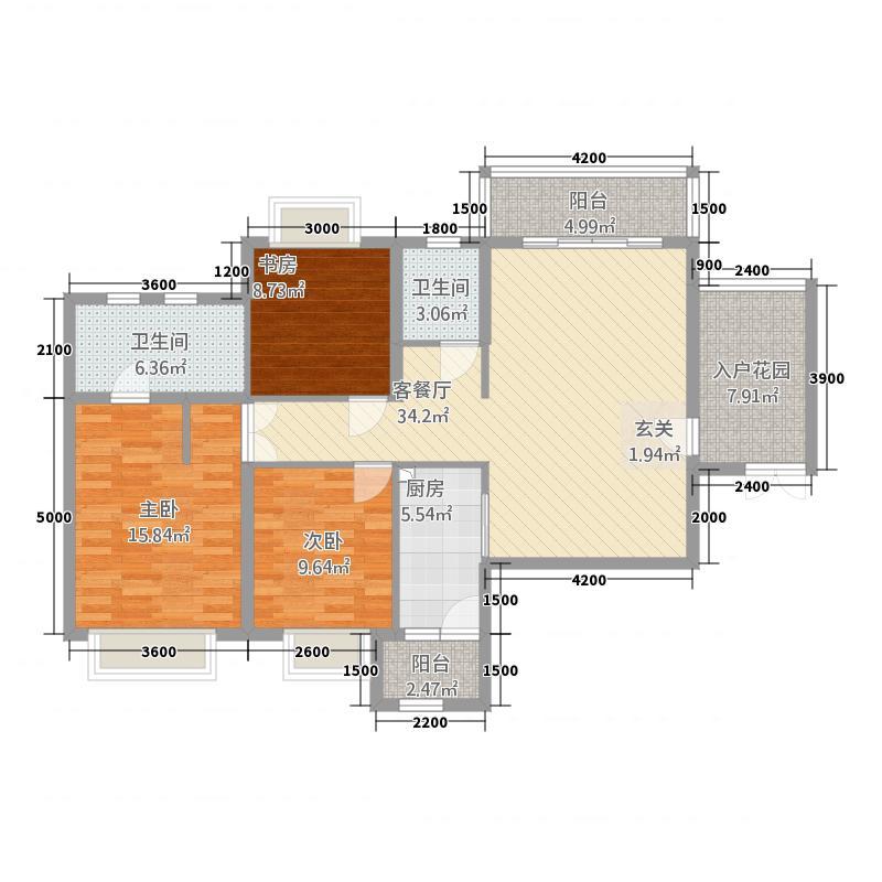 中国铁建・东来尚城13.48㎡9b-c户型3室2厅2卫