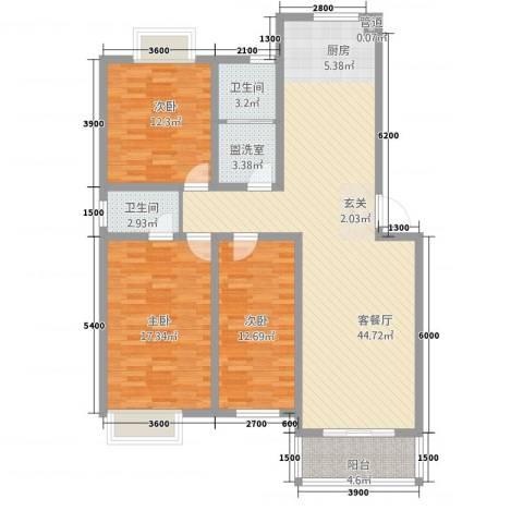 阳光嘉园3室2厅2卫0厨115.00㎡户型图