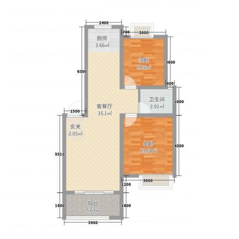 阳光嘉园2室1厅1卫0厨82.00㎡户型图