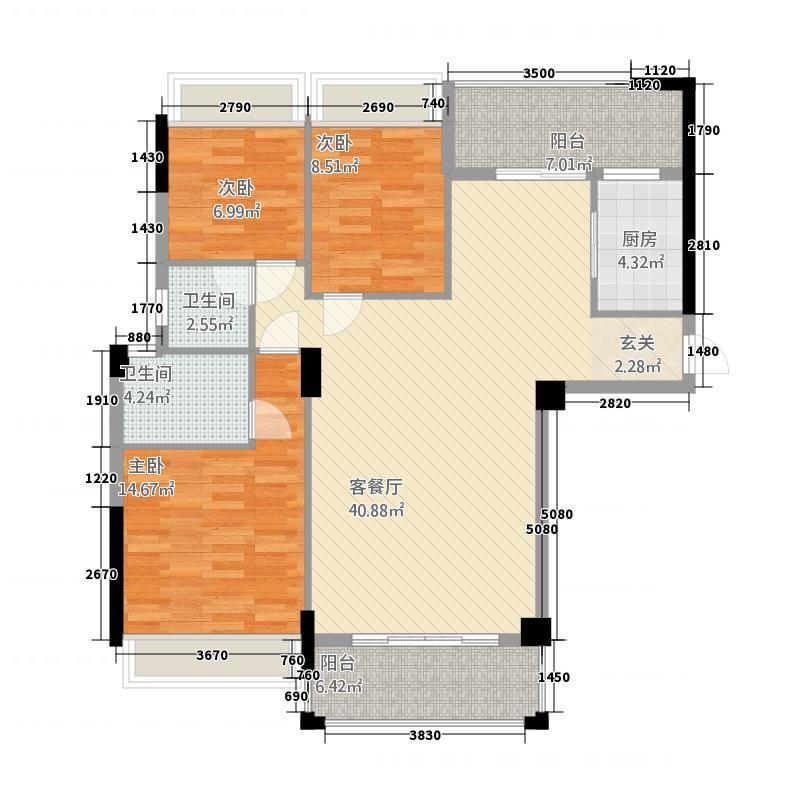泰景翠峰豪庭133.66㎡户型