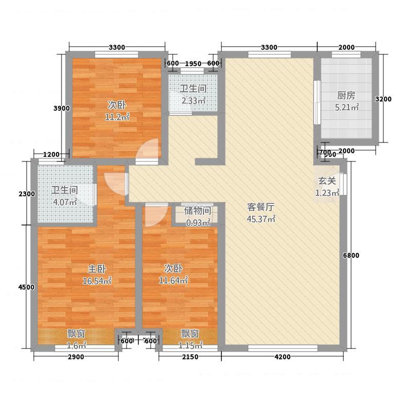 塞纳观邸137.83㎡复件户型