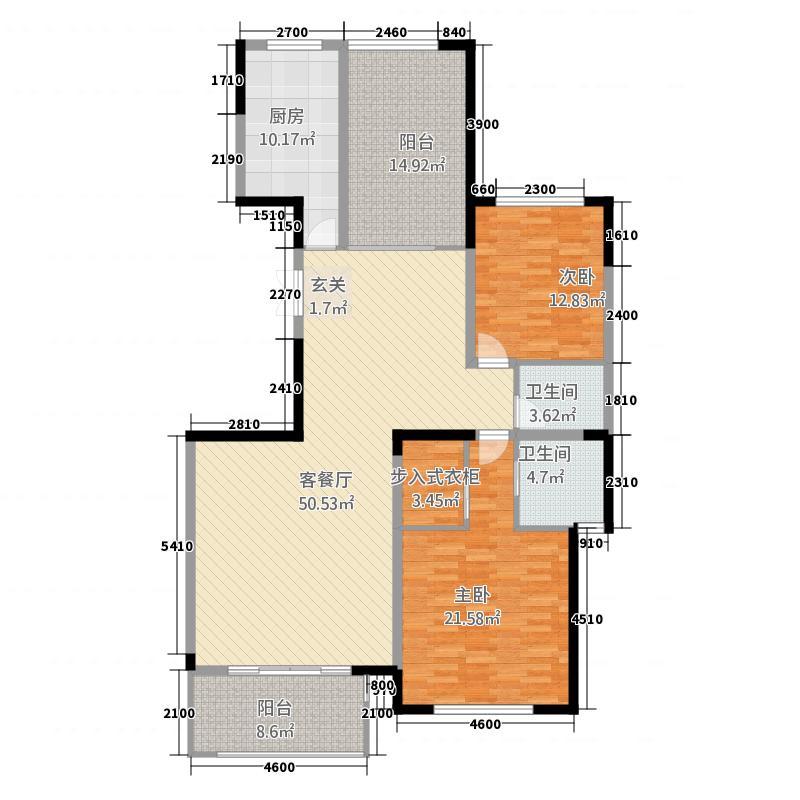 凯泽世纪公园16.20㎡户型3室2厅2卫1厨