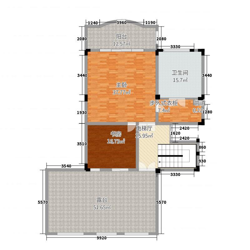 桃源山庄2室0厅1卫0厨358.00㎡户型图
