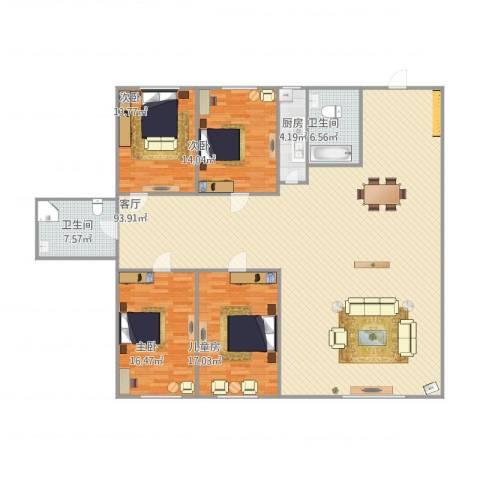 祥和新家园4室1厅2卫1厨228.00㎡户型图