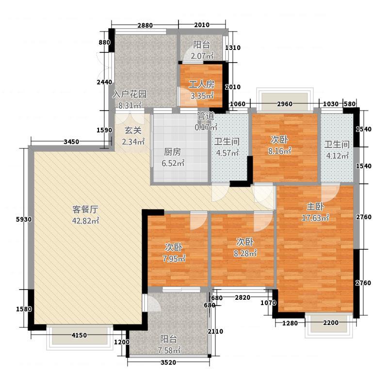 鼎湖森邻户型图独栋领峰楼王 5室1厅2卫1厨