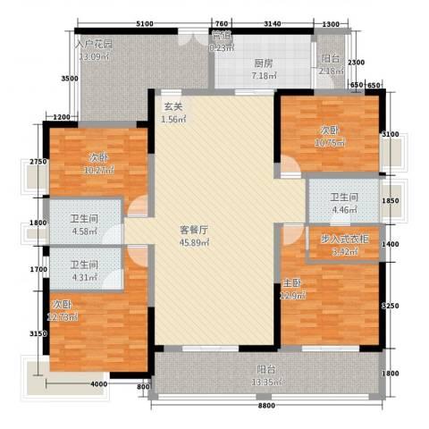 帝景豪庭4室1厅3卫1厨172.00㎡户型图