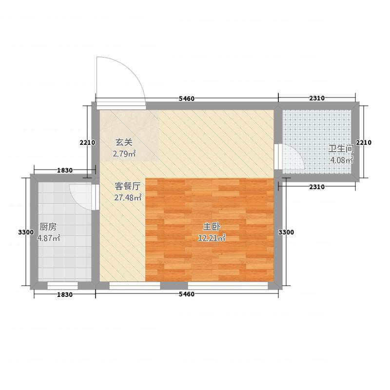 天成家园52.64㎡(5264)户型