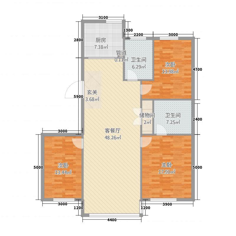 紫都纾苑158.00㎡158户型3室2厅2卫1厨