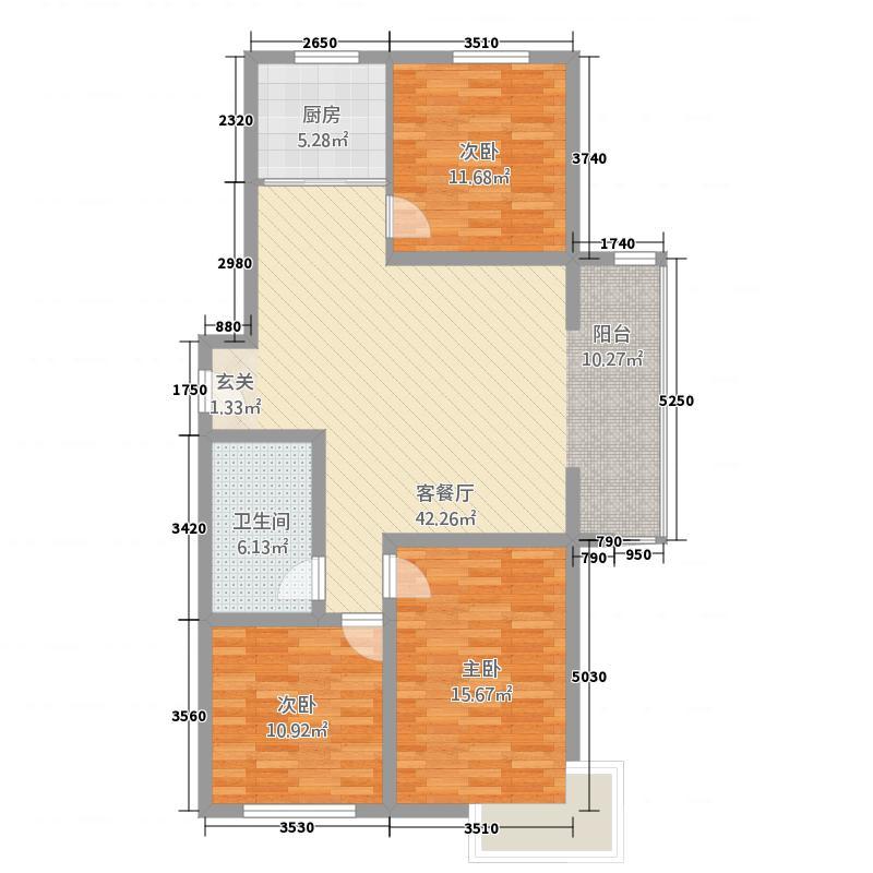 江南映象129.00㎡江南映象户型图三室两厅一卫户型3室2厅1卫1厨户型3室2厅1卫1厨