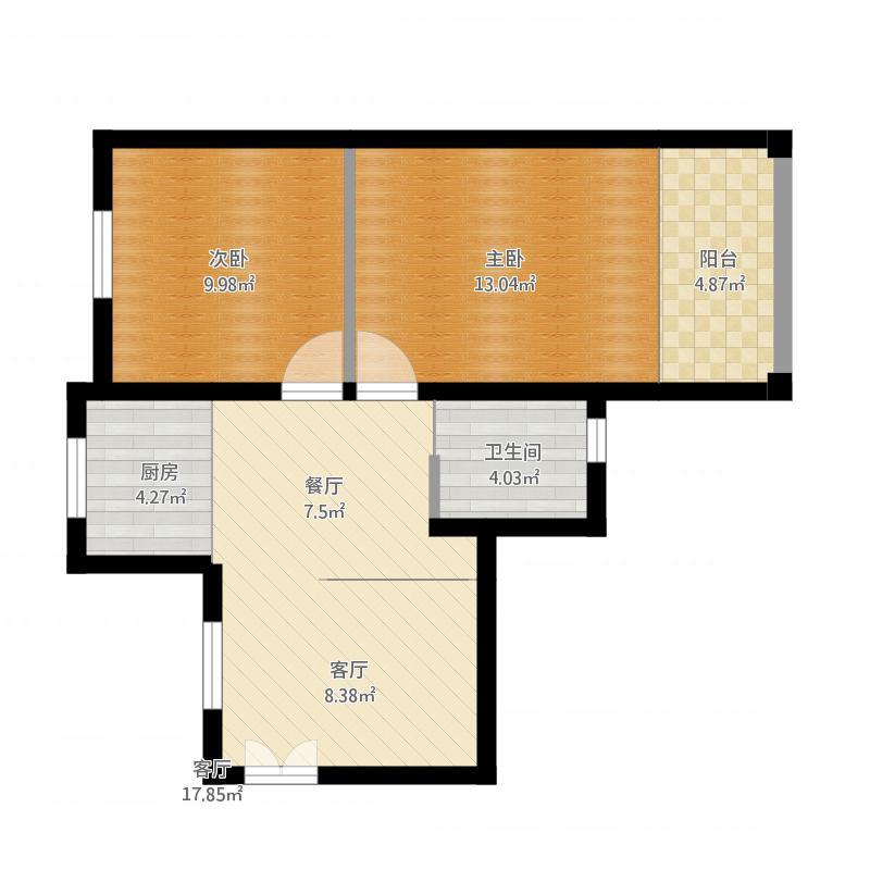 上海-中虹家园-南北户型70平