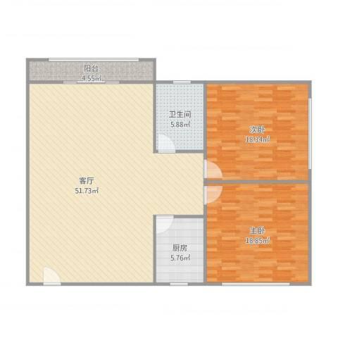 胜利小区2室1厅1卫1厨139.00㎡户型图