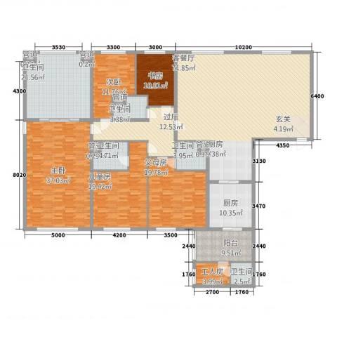 太原茂业天地4室1厅5卫1厨243.66㎡户型图