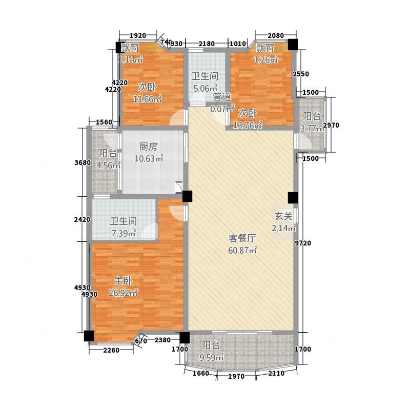 金城蓝湾一期218.00㎡金城蓝湾一期218.00㎡4室户型4室