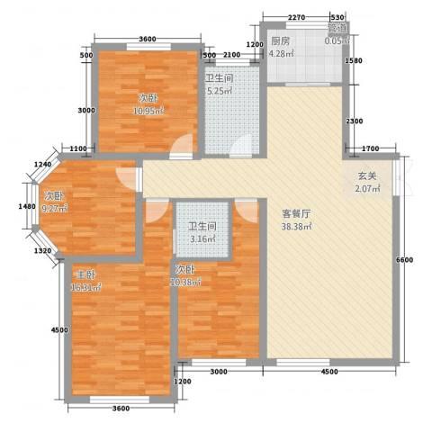 东地华庭4室1厅2卫1厨141.00㎡户型图
