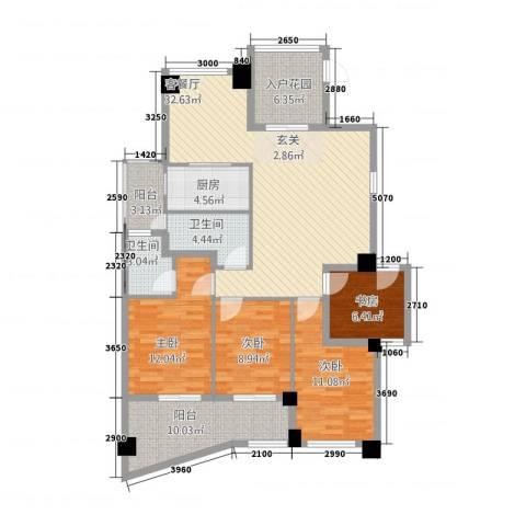 郦景阳光二期4室1厅2卫1厨22148.00㎡户型图