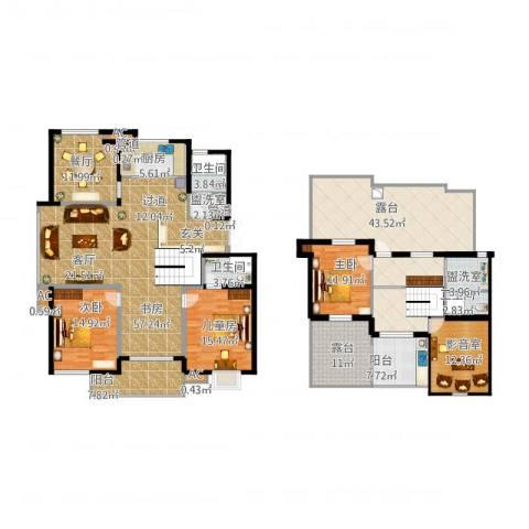 盛大开元4室3厅8卫1厨306.00㎡户型图