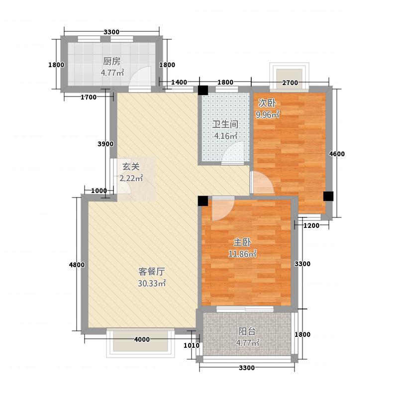 祥荣荔树湾3451.20㎡3#4#5#户型2室2厅1卫1厨