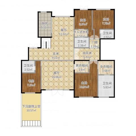 远洋天著春秋4室1厅4卫1厨157.00㎡户型图