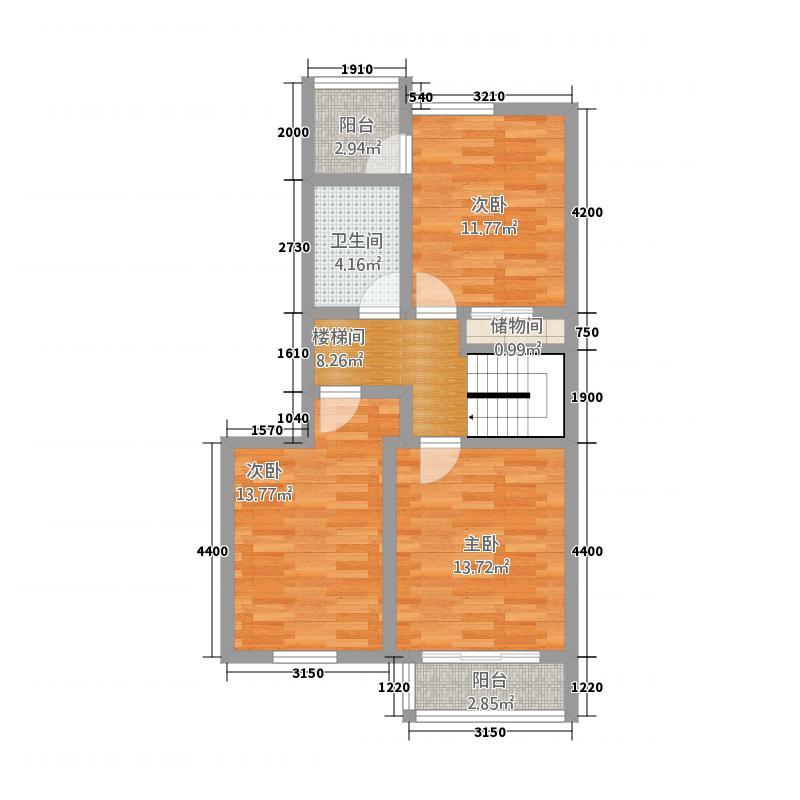 天熹大厦173.57㎡B型复式户型3室2厅2卫1厨