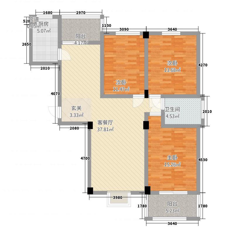 汇景江南14.00㎡1户型3室2厅1卫1厨