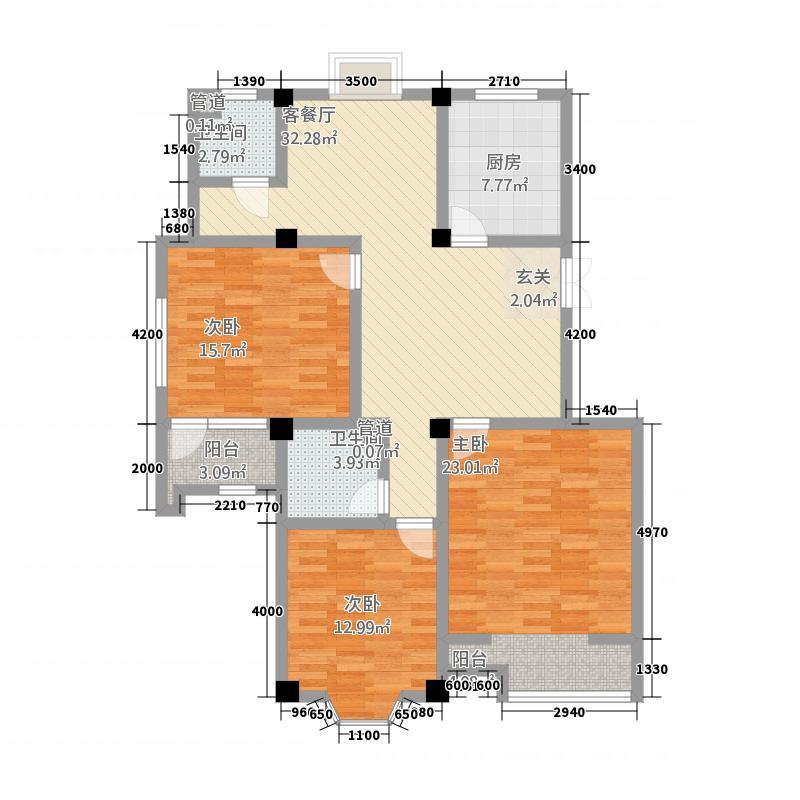 景典杰座E户型3室2厅2卫
