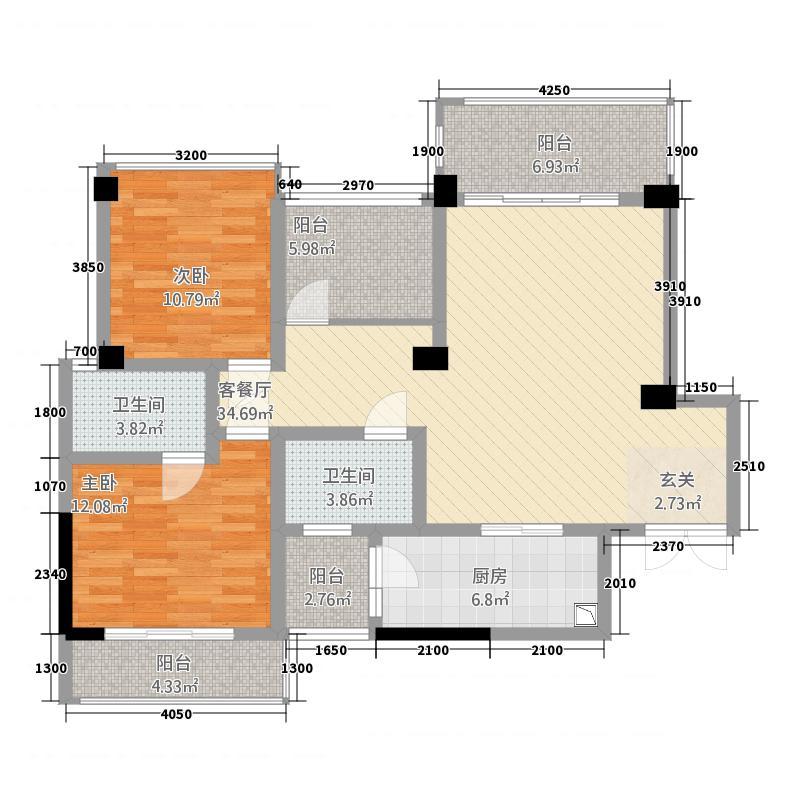雍锦坊231.22㎡j2户型3室2厅2卫1厨
