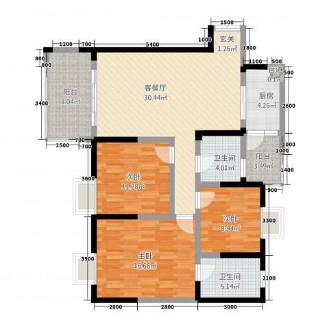 旌城一品3室1厅2卫1厨3123.00㎡户型图