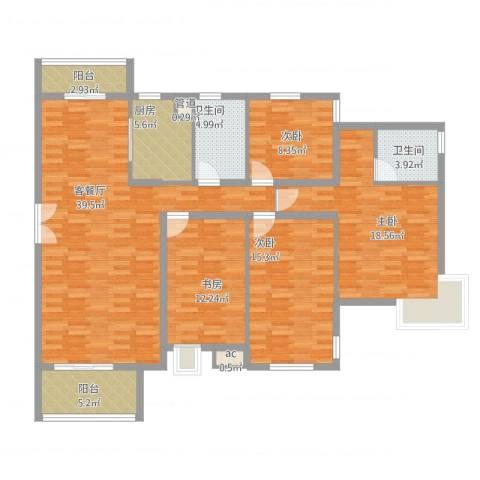 中兴和园4室1厅2卫1厨166.00㎡户型图
