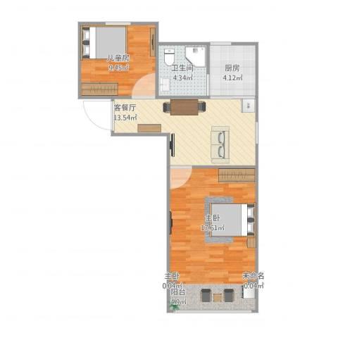 金塔新村3室1厅1卫1厨57.00㎡户型图