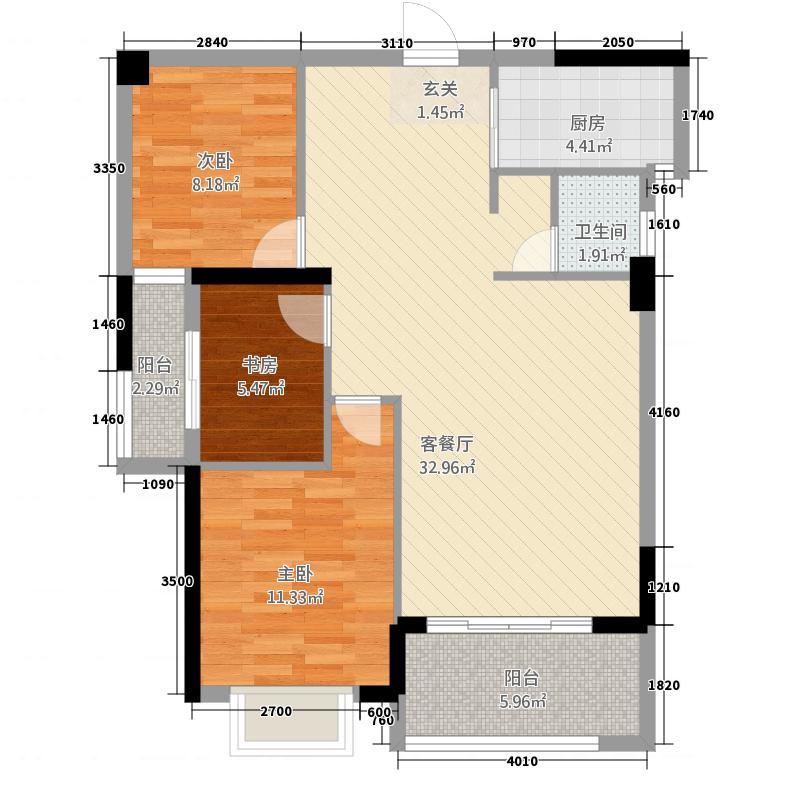 国际商品城三期尚东一品北区5栋02、03单元、9栋02、03单元户型4室2厅2卫1厨