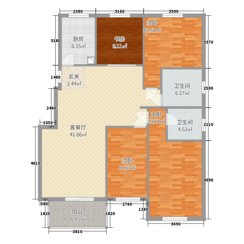 江宏花园C区162.00㎡户型4室