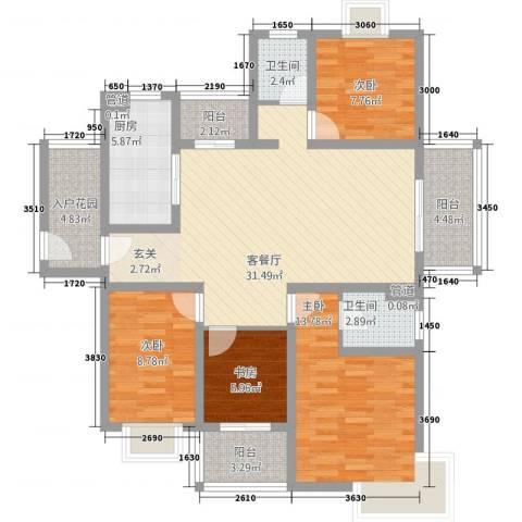 星州明珠城4室1厅2卫1厨138.00㎡户型图