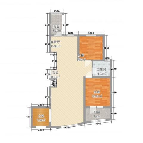 金城丽景湾三期2室1厅1卫0厨76.18㎡户型图