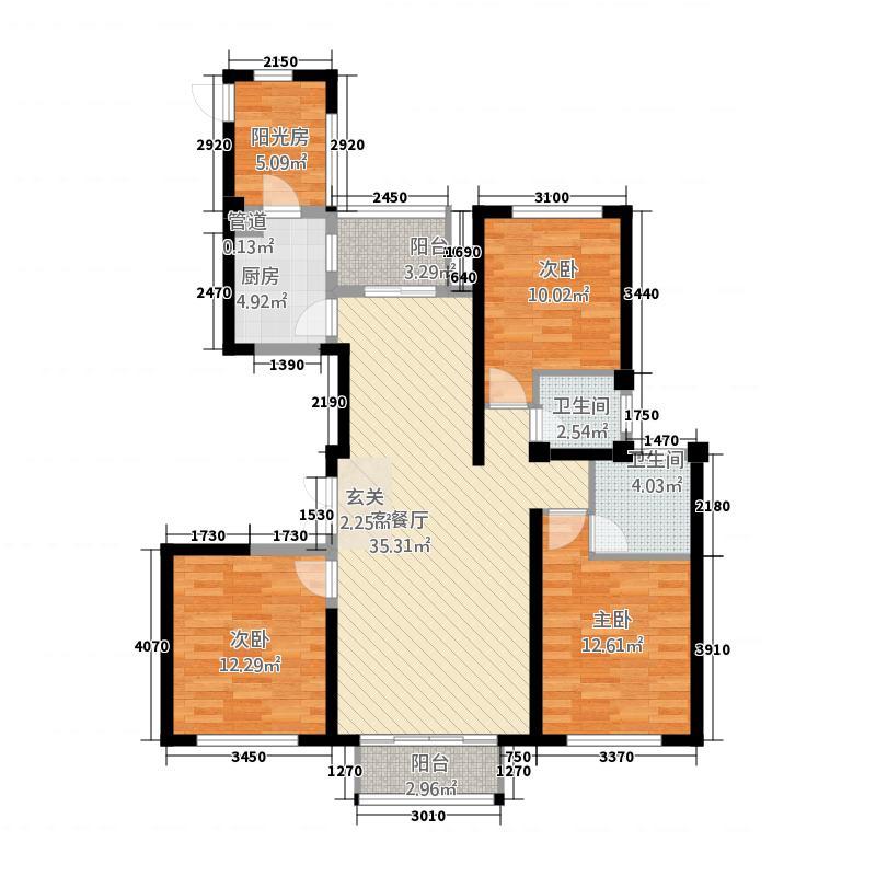 福宁湾滨海新城1137.20㎡D1户型4室2厅2卫1厨