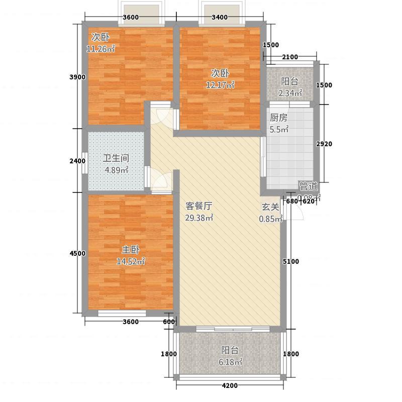 大城・悦�湾14.70㎡户型